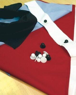 DNC Hospitality Workwear Chef Jacket Button Strip Pair