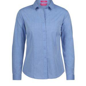 JB's Ladies Classic Long Sleeve Fine Chambray Shirt