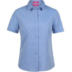 JB's Ladies Classic Short Sleeve Fine Chambray Shirt