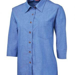 JB's Ladies Original 3/4 Indigo Chambray Shirt