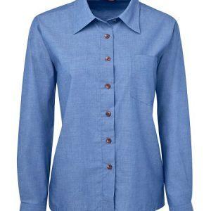JB's Ladies Original Long Sleeve Indigo Chambray Shirt