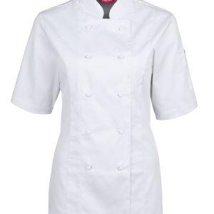 JB's Ladies Short Sleeve Vented Chef's Jacket
