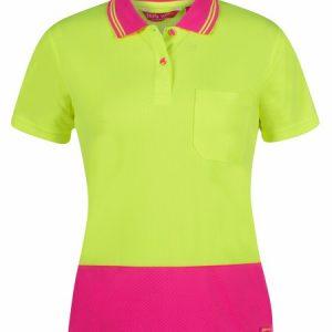 JB's Hi Vis Ladies Jacquard Short Sleeve Polo