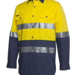 JB's Hi Vis (D+N) Long Sleeve 190G Shirt