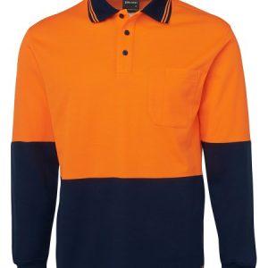 JB's Hi Vis Long Sleeve Cotton Back Polo