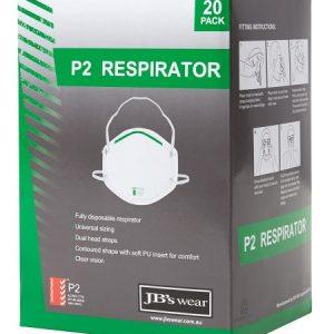 JB's P2 Respirator (20Pc)