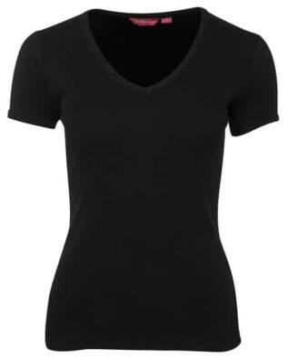 JBs Workwear Ladies V-Neck Rib Tee