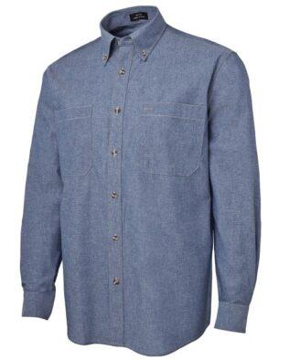 JBs Workwear Long Sleeve Cotton Chambray Shirt