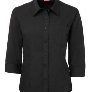 JBs Ladies Contrast Placket 3/4 Shirt