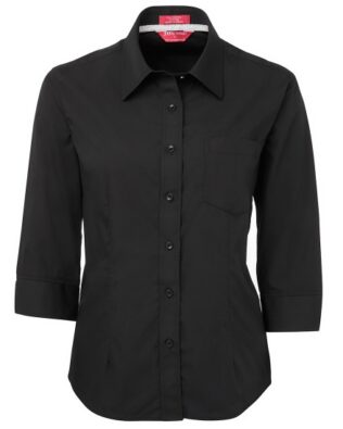 JBs Workwear Ladies Contrast Placket 3/4 Shirt
