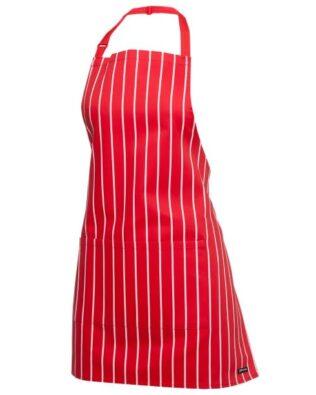 JBs Workwear Striped Apron With Pocket 65 X 71 Bib