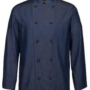 JBs Denim L/S Chefs Jacket