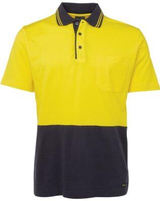 JBs Workwear Hi Vis Short Sleeve Cotton Polo