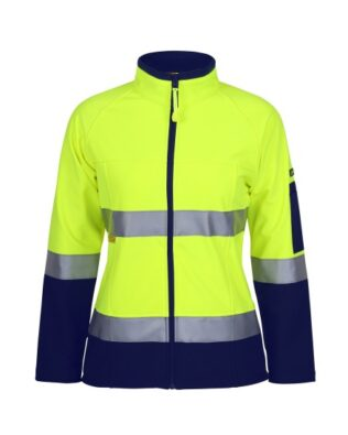 JBs Workwear Ladies HV D+N Softshell Jacket
