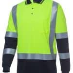 JBs Workwear Long Sleeve D+N H Pattern Biomotion Trad Polo