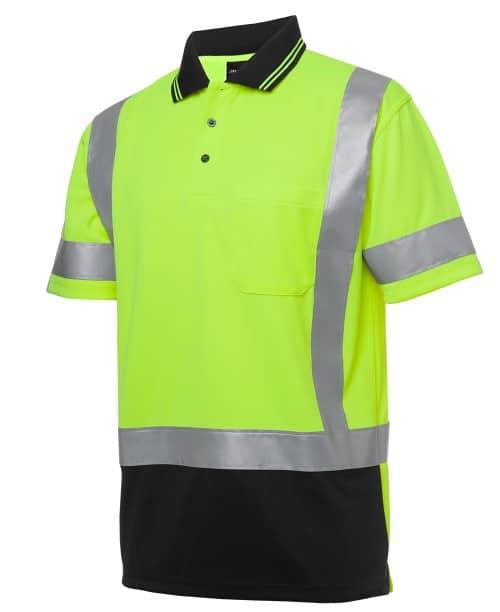JBs Workwear Short Sleeve D+N H Pattern Biomotion Trad Polo