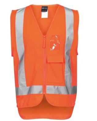JBs Workwear Hi Vis Zip (D+N) Ttmc-W Vest