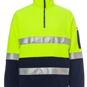 JBs Hi Vis (D+N) 1/2 Zip Polar Fleece