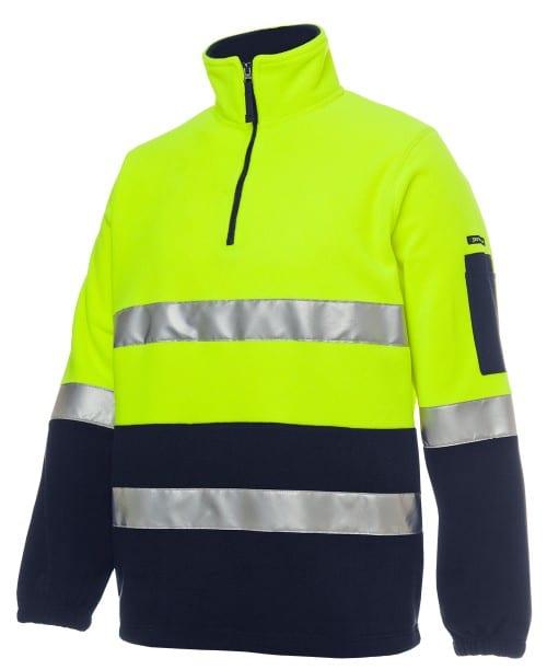 JBs Workwear Hi Vis (D+N) 1/2 Zip Polar Fleece