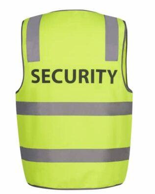 JBs Workwear Hi Vis D+N Safety Vest Security