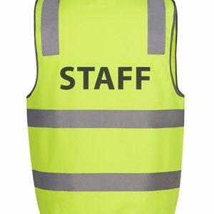 JBs Hi Vis D+N Safety Vest Staff