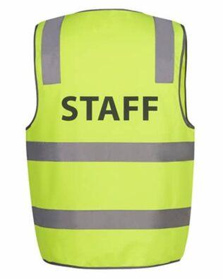JBs Workwear Hi Vis D+N Safety Vest Staff