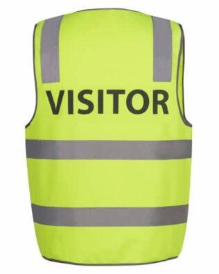 JBs Workwear Hi Vis D+N Safety Vest Visitor