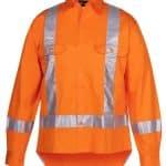 JBs Workwear Hi Vis (D+N) Long Sleeve 150G Ttmc-W Tape Shirt