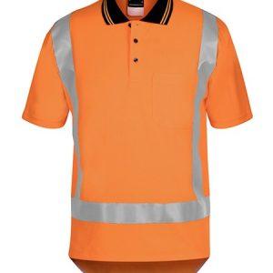 JBs Hi Vis (D+N) Short Sleeve Non Cuff Ttmc-W Traditional Polo