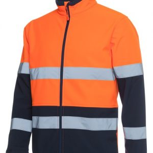 JBs Hi Vis D+N Water Resistant Softshell Jacket