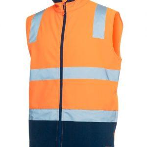 JBs Hi Vis D+N Water Resistant Softshell Vest