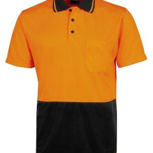 JBs Hi Vis Jacquard Non Cuff Short Sleeve Polo