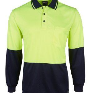 JBs Hi Vis Jacquard Long Sleeve Polo