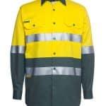 JBs Workwear Hi Vis (D+N) Long Sleeve 190G Shirt