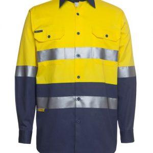 JBs Hi Vis (D+N) Long Sleeve 190G Shirt