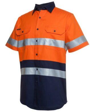 JBs Workwear Hi Vis (D+N) Short Sleeve 190G Shirt