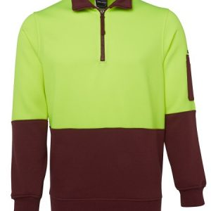 JBs Hi Vis 1/2 Zip Fleecy Sweat
