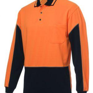 JBs Hi Vis Long Sleeve Gap Polo