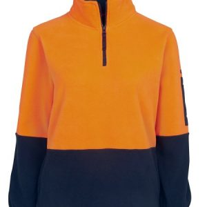 JBs Hi Vis Ladies 1/2 Zip Polar