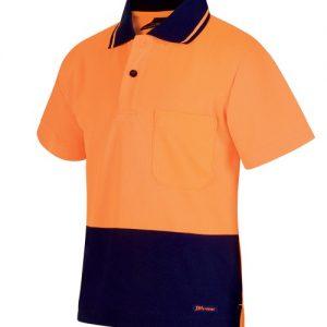 JBs Kids Hi Vis Non Cuff Traditional Polo