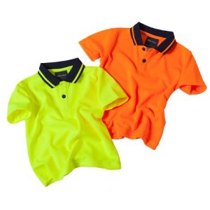 JBs Infant Hi Vis Non Cuff Traditional Polo