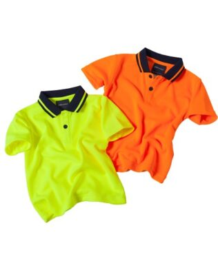 JBs Workwear Infant Hi Vis Non Cuff Traditional Polo