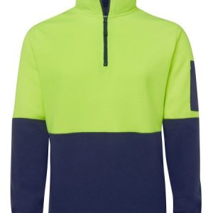 JBs Hi Vis 1/2 Zip Polar Fleece