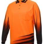 JBs Workwear Hi Vis Long Sleeve Rippa Sub Polo