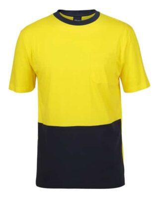 JBs Workwear Hi Vis Crew Neck Cotton T-Shirt