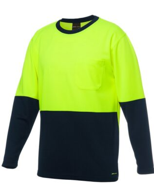 JBs Workwear Hi Vis Long Sleeve Traditional T-Shirt