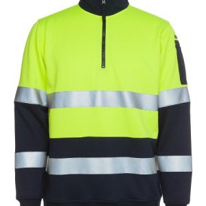 JBs Hi Vis Biomotion D+N 1/2 Zip Fleecy Sweat