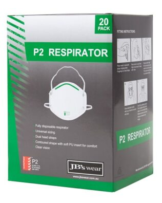 JBs Workwear P2 Respirator (20Pc)