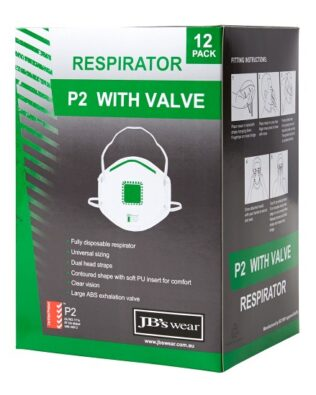 JBs Workwear P2 Respirator With Valve (12Pc)