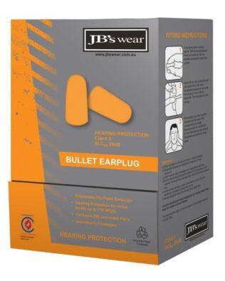JBs Workwear Bullet Shaped Earplug (200Pr)